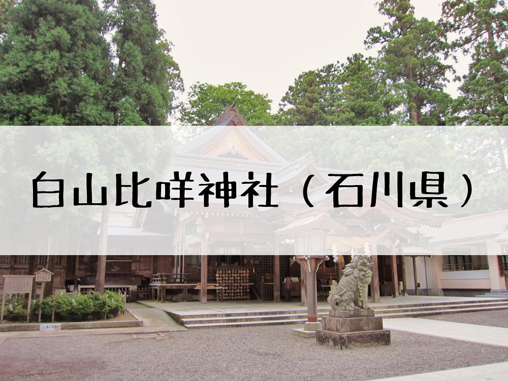 白山比咩神社の御朱印とアクセス!参拝のご利益や歴史についても!
